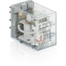 Реле 2 контактные группы, A1-A2=24VDC, 250V/7A, LED