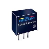 Recom 5V DC-DC импульсный стабилизатор напряжения SIP3 2.5W 500mA